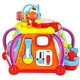 SXZHSM-Juguete de Desarrollo Intelectual Los Niños De La Mesa De Juegos De Múltiples Funciones Feliz Pequeño Mundo Mesa De Juegos Juguetes Educativos Infantiles, 29.5x29.5x23.5cm