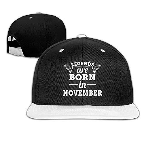 Zcfhike Legends Are Born In November Für Männer und Frauen Komfortable Trucker-Mütze Hip-Hop-Mütze Multicolor60