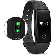 Pulsera Actividad Reloj Inteligente, RIVERSONG Pulsera Deportivo Fitness Tracker Monitor de Ritmo Cardíaca y de sueño/Podómetro/de Calorías, Reloj Deportivo para Android y iOS