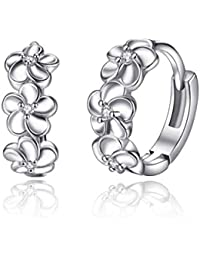 Karatcart Platinum Plated Austrian Crystal Clip-On Earrings For Women