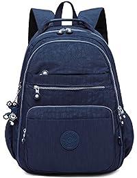 92717308b7 Foino Sacoche Femme Backpack Léger Sac à Dos Mode Collège Sport Sac de  Cours Loisir Sac