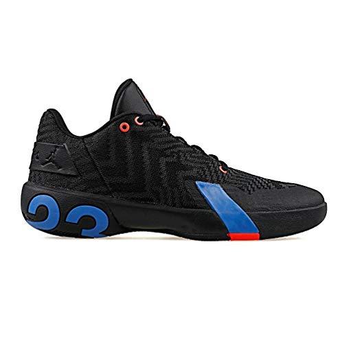 Nike Herren Jordan Ultra Fly 3 Low Basketballschuhe, Mehrfarbig (Black/Pacific Blue/Bright Crimson 004), 42 EU - Schuhe Männer Jordan