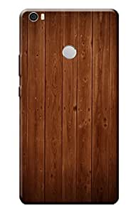 Kanvas Cases Printed Back Cover For Xiaomi Mi Max (Burnt Wood) With Mobile Viewing Stand
