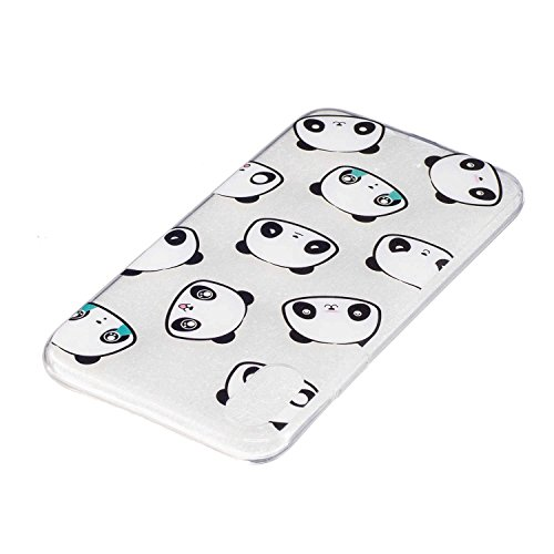 iPhone X Hülle, MSK TPU Silikon Schutz Handy Hülle Handytasche HandyHülle Etui Schale Schutzhülle Case Cover Tasche Etui für Apple iPhone X - Eiscreme Panda