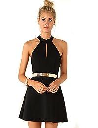 ac41d958ff4 Amazon.fr   robe dos nu noir dentelle   Vêtements