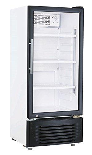 Kühlschrank mit Glastür 196 Liter Flaschenkühlschrank Getränkekühlschrank Gewerbekühlschrank 545 x 525 x 1450 mm