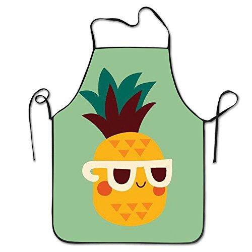 Draujy Schürze mit Sonnenbrille, Unisex, mit verstellbarem Hals zum Kochen, Backen, Gartenarbeit, 71 x 53 ()