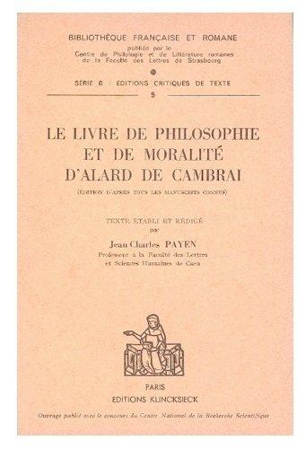 Livre de philosophie et de moralité par Alard de Cambrai