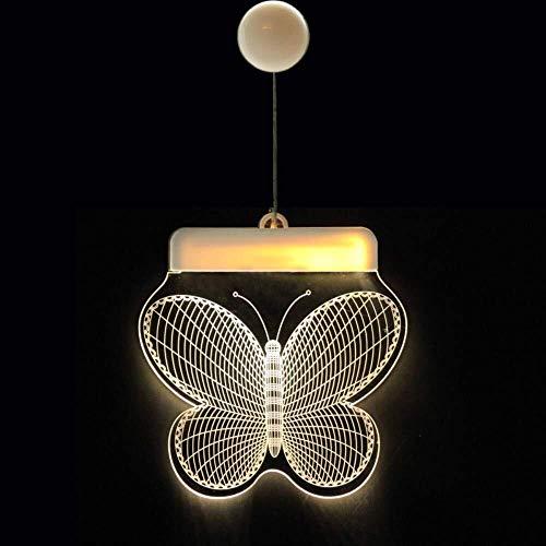 SZYIN Lichterketten aussen led, Dekorative Weihnachtslaterne LED Batterie-Licht Bell-Deer-Licht-Schnur Acrylbrett 3D Hängelampe Romantische Mädchen Schmetterling