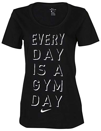 Nike Women's Everyday is A Gym Day T-Shirt-Black -