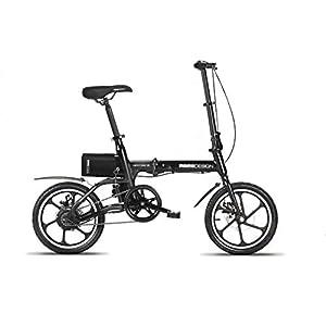 418pVV0VPFL. SS300 Momo Design New-York 16, Bicicletta Elettrica Pieghevole, 16'', Velocità 25km/h, Autonomia 35km, Unisex – Adulto, Nero