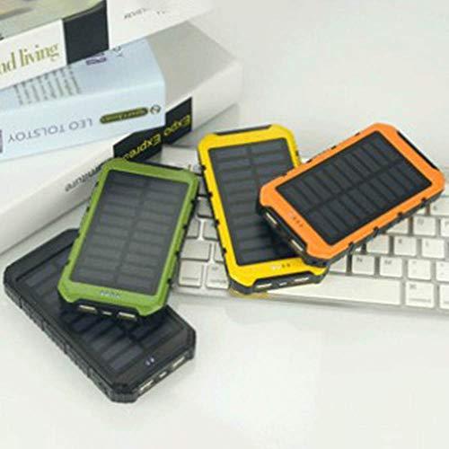 Guoxuee caricabatteria solare solar power bank caricabatterie solare per telefono esterno batteria esterna 12000mah verde