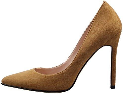 Calaier Femme Cacrossing 10CM Aiguille Glisser Sur Escarpins Chaussures Beige