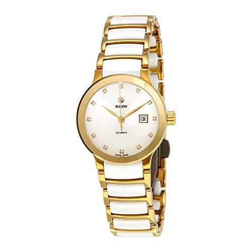 Rado Centrix automatique Cadran blanc diamant montre pour femme R30080752