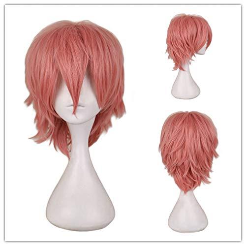 (DDDMMM Schwarz Weiß Lila Rot Kurzes Haar Cosplay Perücke Männliche Party 30 Cm Hochtemperaturfaser Synthetische Haar Perücken)