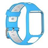 dacyflower Tomtom Runner 2 3, Spark 3, Golfista 2, Aventurero - Reemplazo De Silicona con Brazalete con Protector De Pantalla - Accesorios para Reloj Inteligente GPS