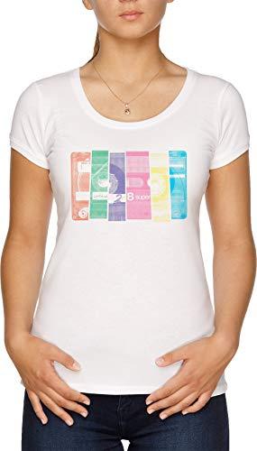 Mischen Band 10 Damen T-Shirt Weiß
