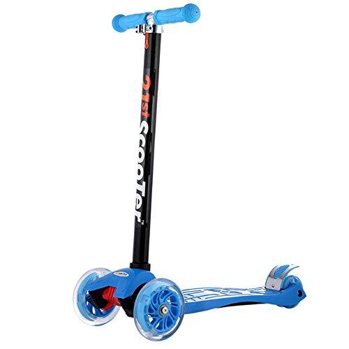 Wanlianer Roller Mini Kinder Roller 3 Räder Micro Kick Scooter Pink mit blinkendem Rad für Kinder Jungen und Mädchen (Farbe : Blau) - Blau Micro Scooter Sprite
