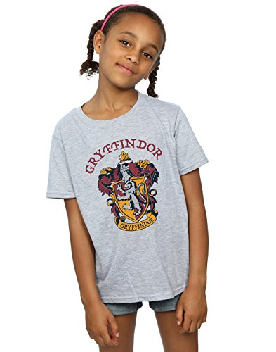 Harry Potter Mädchen Gryffindor Crest T-Shirt Sport Grau 12-13 Years
