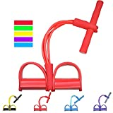 Gfung Lot de 4 Bandes de résistance Multifonctions pour Exercices de Jambe et de Yoga pour Exercices de Musculation et de Musculation