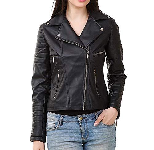 EASY4BUY® Stylish Girls/Ladies/Women Slim Fit Zipper Design Winter Jacket(Code-Black)(Size-M)