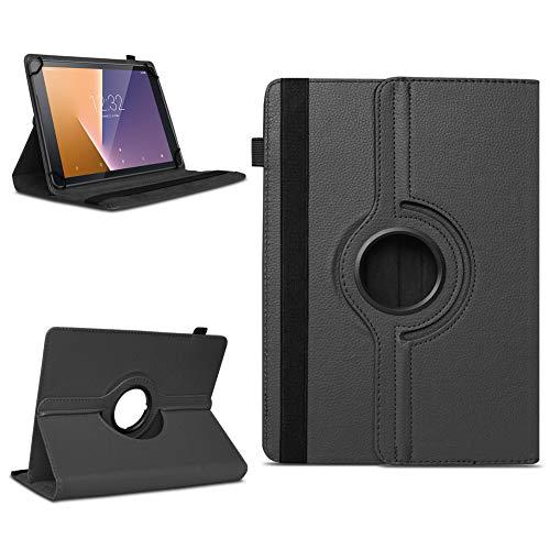 na-commerce Tablet Schutzhülle Vodafone Tab Prime 6/7 360° drehbar Tasche Cover Case Etui, Farben:Schwarz