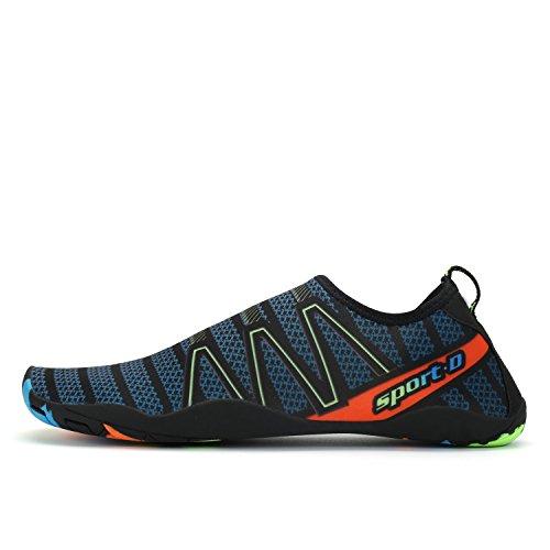 Voovix Herren Damen Wasserschuhe Schnell Trocknende Aqua Schuhe Slip-On Skin Schuhe Swim Beach Socken Dunkelgrün