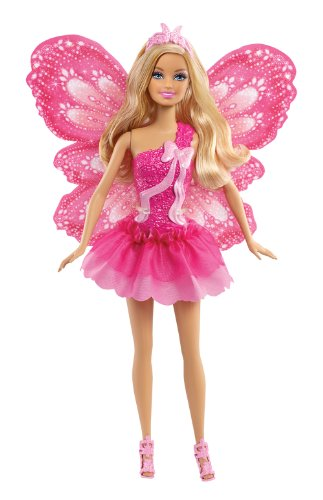 Preisvergleich Produktbild Mattel Barbie X9449 - Schmetterlingsfee blond, Puppe mit abnehmbaren Flügeln