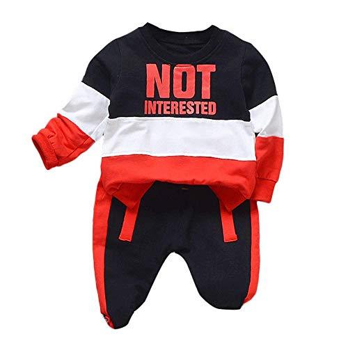 ZHRUI Baby Kinder Jungen Outfits, Mode Brief Gedruckt -