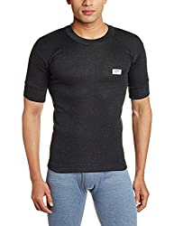 Rupa Thermocot Mens Synthetic Thermal Top (8903978492209_VOLCANO R-N H-S -90_Black)