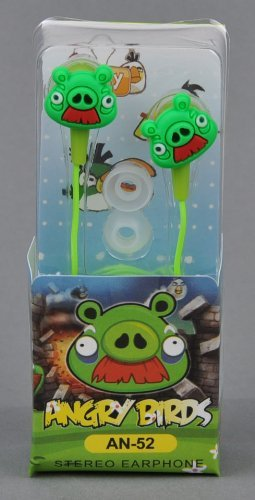 Angry Birds In-Ear Kopfhörer Nintendo Sony PSP Iphone Ipad in grün Angry Birds Psp