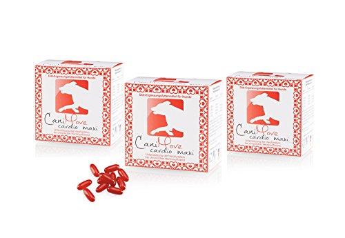CaniMove 3 Packungen Cardio Maxi, tierärztliches Diät-Ergänzungsfuttermittel zur Unterstützung der Herzfunktion, 3 x 100 Kapseln (a 1.090 mg) -