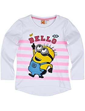 Minions Despicable Me Chicas Camiseta mangas largas - Blanco