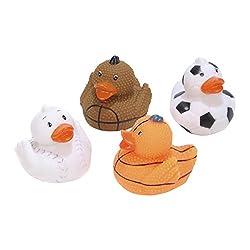 Rhode Island Novelty 2 Sports (Football, Basketball, Baseball, Soccer) Rubber Duck (12 Piece)