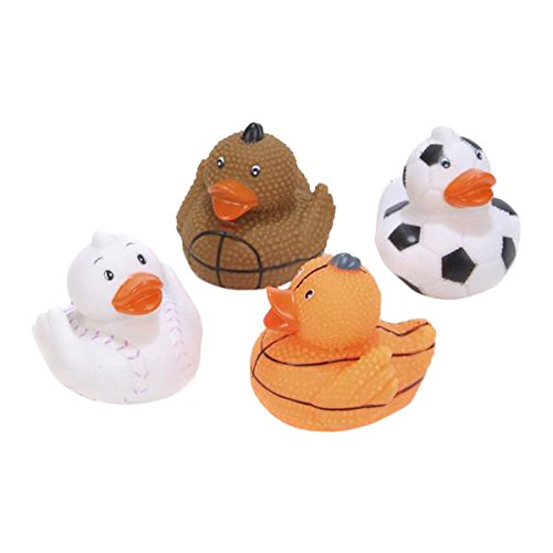 Rhode Island Novelty 2 Sports (Football, Basketball, Baseball, Soccer) Rubber Duck (12 Piece) by Rhode Island Novelty