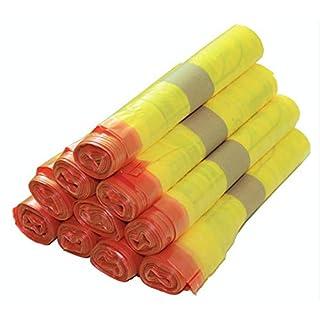 5 bis 500 Rollen Gelber Sack, Gelbe Säcke 90 Liter, 15µ (10 Rollen)