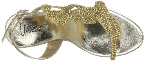 Unze Evening Sandals, Sandali col tacco donna Oro (Gold (L18224W))
