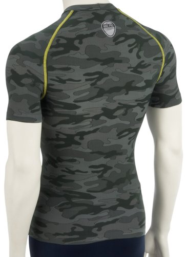 Nike Men's Pro-Coupe-Vent à manches courtes et col rond - 205912 - Military Green Camouflage