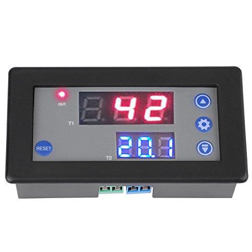 12V Timing Delay Relaismodul Zyklus Timer Digital LED Doppelanzeige Zyklus Timer Relais