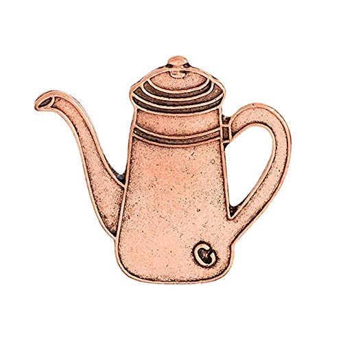 X-Z Rustikale Kupfer Türkische Kaffeekanne und Tasse Kaffee Pin Espresso Maker Pins Abzeichen Broschen Unisex Schmuck