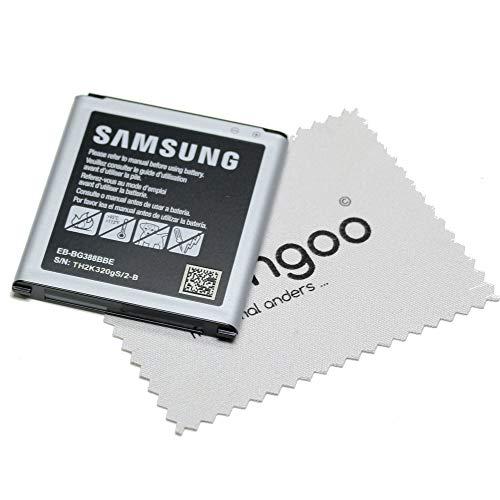 Akku für Samsung Original EB-BG388BBE LiIon für Samsung Galaxy Xcover 3 (G388F) mit mungoo Displayputztuch
