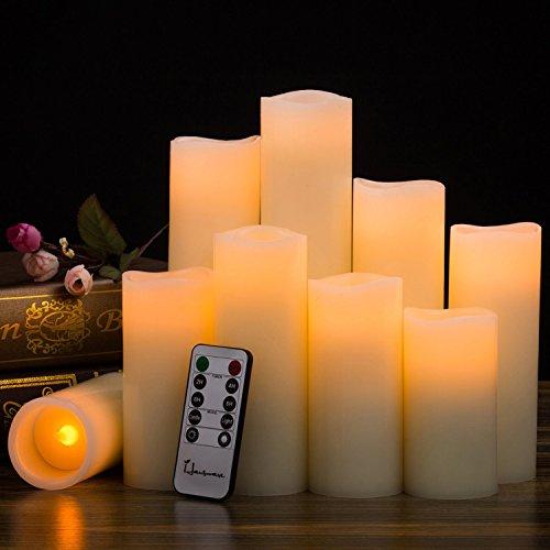 Paquete de 9 velas sin llama Velas con pilas H 4