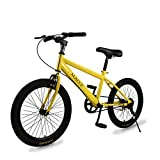 Kids' Bikes Children Bicycle,Mountain Bike Single Speed 变速 [Color] 20 inch 8-14 Years Old Student Car-Yellow 53.5inch