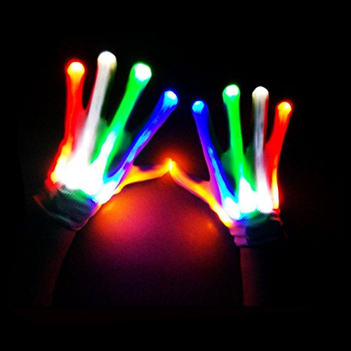Kids Fingertip Led Gloves Rainbow Flash Light Glow Stick Gloves Mittens Possessing Chinese Flavors Apparel Accessories