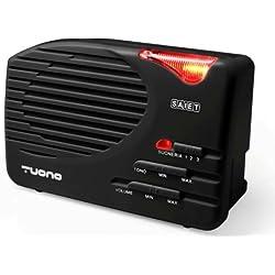 Saiet Amplificateur de sonnerie pour téléphone fixe, noir/anthracite