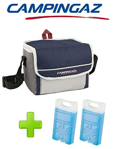 ALTIGASI Kühltasche FOLD\'N Cool CAMPINGAZ 5 Liter CAMPINGAZ mit verstellbarem Schultergurt und Fronttasche - Leistung bis zu 6 Stunden + 2 FREEZ Pack M10