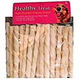 Healthy Treat Paws Digestable Rawhide White Chew Sticks (400 Gm)