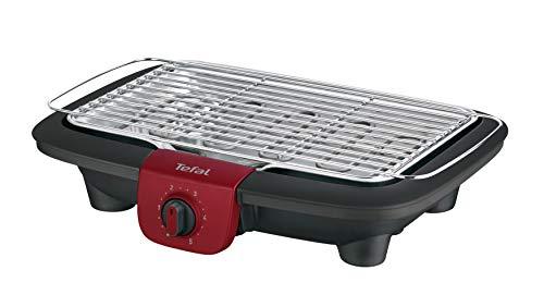 Tefal BG90E5 Easygrill Adjust - Barbecue elettrico, 2300, colore: nero/bordeaux