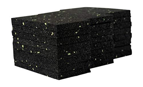 72 Stück 8 mm 50 x 100 mm Terrassenpad, Terrassenpads, Gummigranulat, Terrassenbau