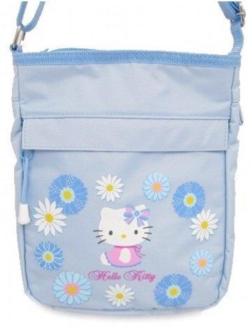 Hello Kitty Sac à main épaule Motif marguerite Bleu